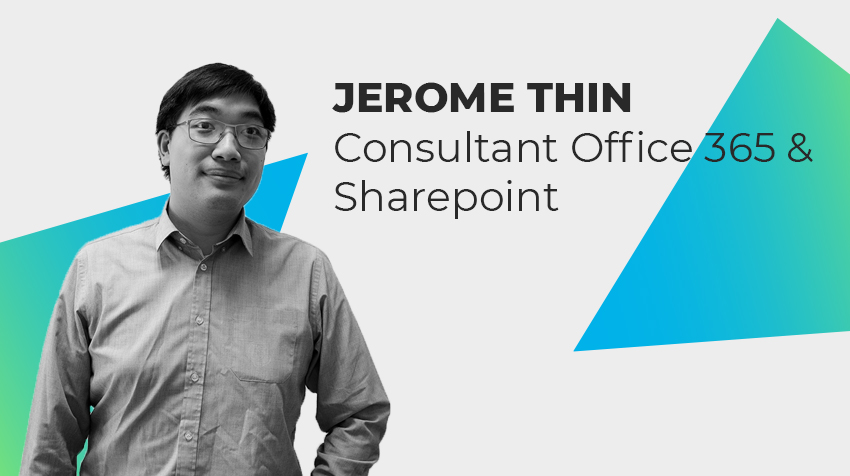 Interview new comer - Jérôme THIN, Consultant Office 365/Sharepoint